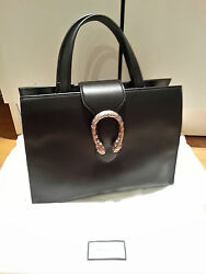 New Gucci Medium Top Handle black bag with tags and dust bag