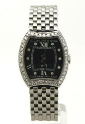 Bedat And Co No. 3 Ladies Diamonds Stainless Steel Black Dial Watch