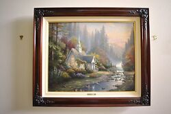 Thomas Kinkade - Forest Chapel - 24 X 30 Framed Certified - Chapels Of Nature Ii