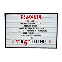 Big Changeable 2 Letters Message Sign Menu Price Marquee Reader Board 48x 32
