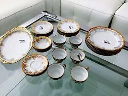 Weimar Katharina 14051 Etch Cobalt 46 Pc Dinner Set For 6 Person - See Details