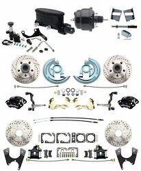 Four Wheel Disc Brake Conversion Wilwood Package For 1964-72 A Body / Chevelle