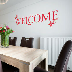 Welcome Vinyl Wall Decal Quote - Fits Kitchen + More, Home Decor Sticker L212