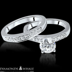 Vs1/e 1.43 Tc Engagement Diamond Ring Solitaire With Accent Enhanced Round Cut