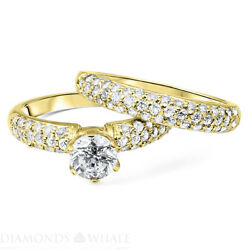 Engagement Round Diamond Ring D/si2 Ct Rdac-16 Accents Round Enhanced