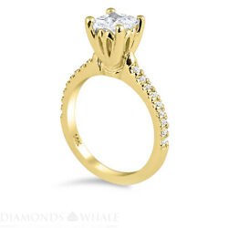 0.85 Tcw Solitaire With Accent Princess Diamond Ring Si1/f Engagement Enhanced