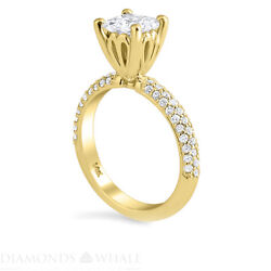 1.51 Tcw Princess Enhanced Diamond Ring Solitaire With Accents Vs1/d Engagement