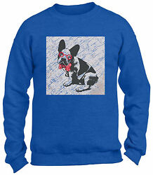 French Bulldog in a Bow Tie Crewneck Sweatshirts Unisex Vintage Puppy