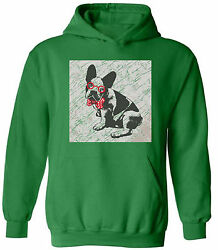 French Bulldog in a Bow Tie Hoodie Sweatshirts Unisex Vintage Puppy