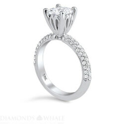 Princess Diamond Ring Si2/d 1.51 Tcw White Gold Solitaire With Accent Enhanced