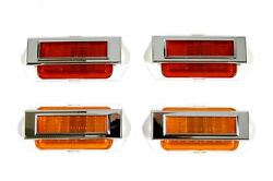 69 Camaro Front/rear Side Marker Lens Assembly 8pc Set Lamps And Bezels