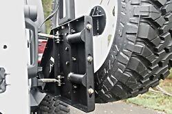Fab Fours Black Jk Rear Tire Carrier For Base Bumper For 07-17 Jeep Wrangler Jk