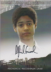 Alfred Enoch Artbox Harry Potter Order Of The Phoenix Autograph Auto Card