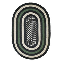 Hero Military Green Country Braided Area Rug By Colonial Rug-- Many Sizes