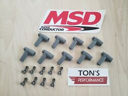 Msd Ignition 8849 Hei Distributor Boots Terminals Grey Set Of 9 Right Angle 90