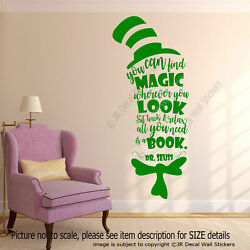 quot;You can find Magicquot; Dr. Seuss Book Inspirational quote wall Nursery decor