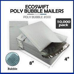 10000 000 4x8 Ecoswift Brand Poly Bubble Mailers Small Padded Envelope 4 X 8