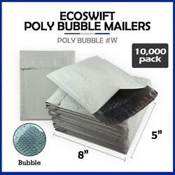 10000 000 5x8 Ecoswift Brand Poly Bubble Padded Envelopes X-wide 000 Mailers