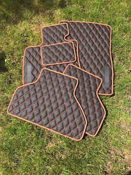 Luxury Black Bespoke Leather Car Floor Mats Fully Tailored Fit Bmw X5 E70 2007-