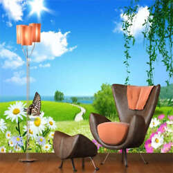 Sunny Sky And Flower 3d Full Wall Mural Photo Wallpaper Printing Home Kids Decor
