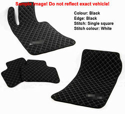 Leather Car Floor Mats Luxury Bespoke Fully Tailored Fit Audi A6 C7 2011-