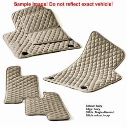 Leather Car Floor Mats Luxury Bespoke Fully Tailored Fit Range Rover Evoque