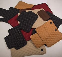 Leather Car Floor Mats Luxury Bespoke Fully Tailored Fit Mercedes Cla C117 2013-