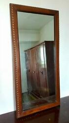 Antique Bed 2 Bedside Tables Large Closet Cabinet And Mirror Library