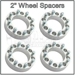 4x 2and039and039 Wheel Spacers 8x170 14x1.5 Studs For Ford F250 F350 Super Duty Excursion