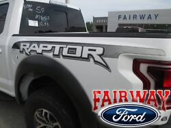 17 And 18 F-150 Raptor Oem Genuine Ford Bedside Emblems Decals Pair Of 2 In Ebony