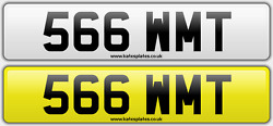 566 Wmt Taylor Thomas Dateless Personalised Registration Cherished Number Plate
