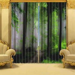 Water Mist Summer Cool Path Access 3d Curtain Blockout Photo Printing Curtains