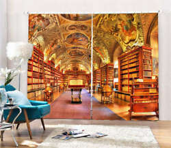 Mysterious Building Library 3d Curtain Blockout Photo Printing Curtains Drape