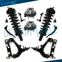 Brand New 12pc Complete Front Suspension Kit for Chevy Trailblazer and GMC Envoy