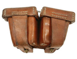 Vintage Leather Double Ammo Pouch Cartridge Magazine Mauser Mosin Army Military