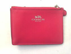 Coach Smooth Leather Key Chain (Pink) MSRP $85