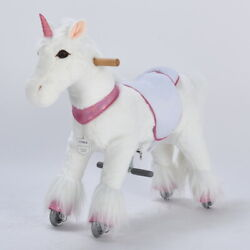 Ufree Ride On Pony Small Toys Present For Kid 3-6 Unicorn With Pink Horn