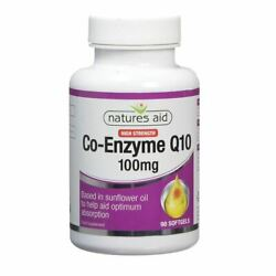 Natures Aid Co-enzyme Q10 100mg High Strength Optimum Absorption 90 Softgels