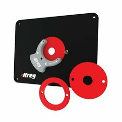 Kreg Prs4036 Router Table Insert Plate W/ Level-loc Rings - Predrilled