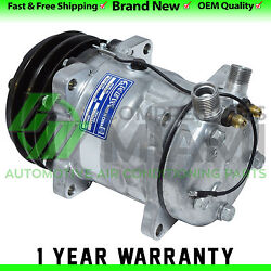 New AC Compressor and Clutch Sanden SD508 Replacement 2 Grooves Pulley