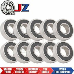 10x 6203-2rs Ball Bearing 16mm X 40mm X 12mm Rubber Sealed Premium Rs 2rs Qjz