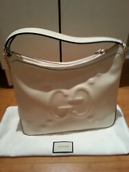 New Gucci Original XL GG Logo white bag with tags and dust bag