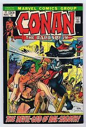 Conan The Barbarian 17 Vf Owp Complete 1972 1st Print Marvel Comics