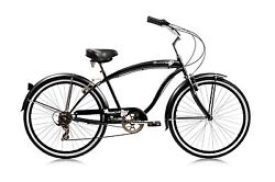 Beach Cruiser Rover 24-inch 7-speed Bike Menand039s/ladies Different Colors Bicycle