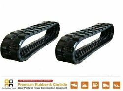 2 Pcs 16 Wide Rubber Track 400x86x50 Made For Jcb 180t Volvo 85 Bobcat S130