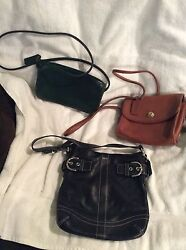 Coach Bags 2 with shoulder cross body straps and 1 hand shoulder bag $60.00