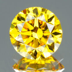 2.1 Mm Certified Round Rare Yellow Color Vvs Loose Natural Diamond Wholesale Lot