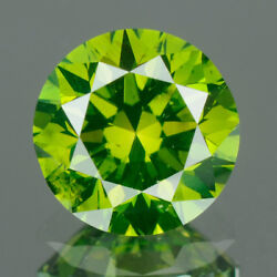 3.1 Mm Certified Round Fancy Green Color Vs Loose Natural Diamond Wholesale Lot