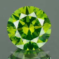 3.0 Mm Certified Round Fancy Green Color Vs Loose Natural Diamond Wholesale Lot