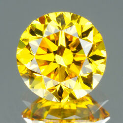3.25 Mm Certified Round Rare Yellow Color Si Loose Natural Diamond Wholesale Lot